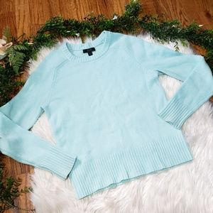 J.CREW 100% wool mint green  sweater XS